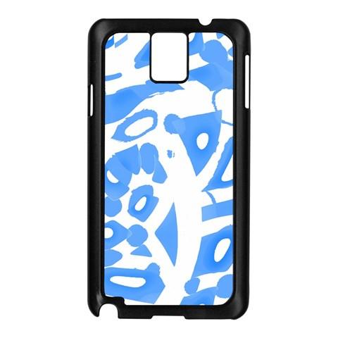 Blue summer design Samsung Galaxy Note 3 N9005 Case (Black)