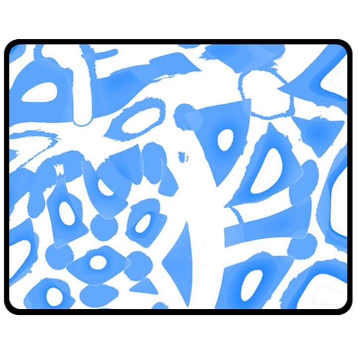 Blue summer design Double Sided Fleece Blanket (Medium)