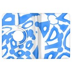 Blue summer design Kindle Fire HDX Flip 360 Case Front