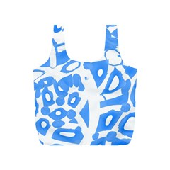 Blue summer design Full Print Recycle Bags (S)
