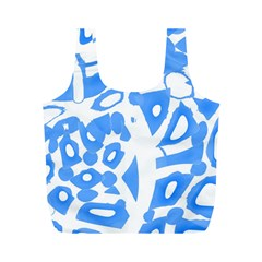 Blue summer design Full Print Recycle Bags (M)