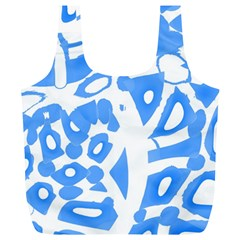 Blue Summer Design Full Print Recycle Bags (l)