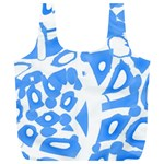 Blue summer design Full Print Recycle Bags (L)  Back