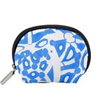 Blue summer design Accessory Pouches (Small)  Front
