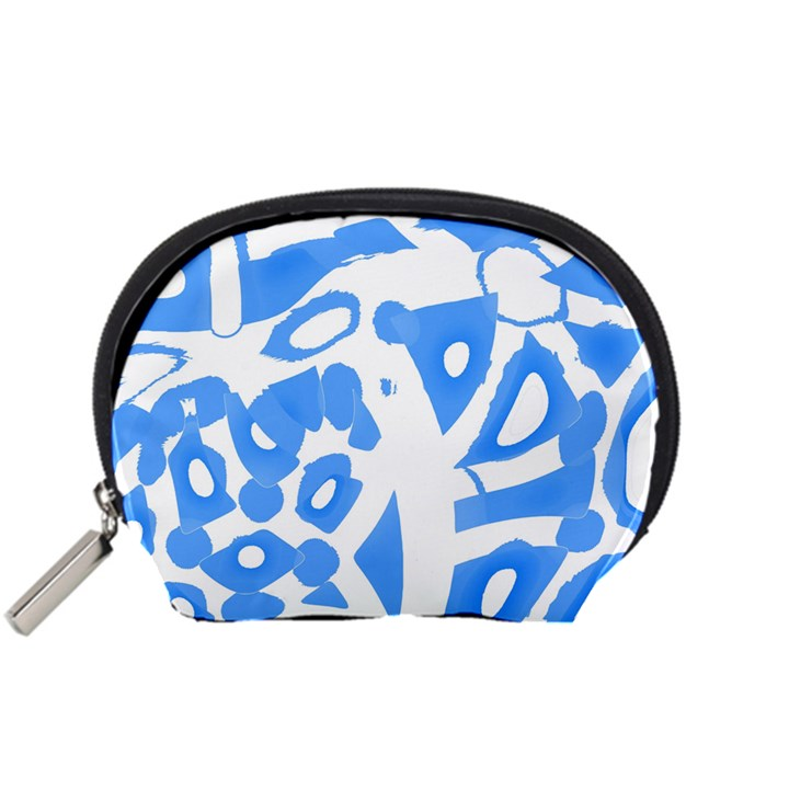 Blue summer design Accessory Pouches (Small)