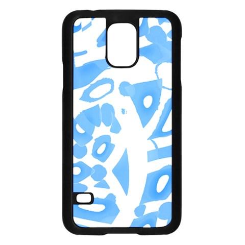Blue summer design Samsung Galaxy S5 Case (Black)