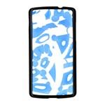Blue summer design Nexus 5 Case (Black) Front