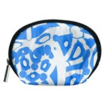 Blue summer design Accessory Pouches (Medium)  Front