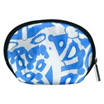 Blue summer design Accessory Pouches (Medium)  Back