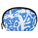 Blue summer design Accessory Pouches (Large)  Front