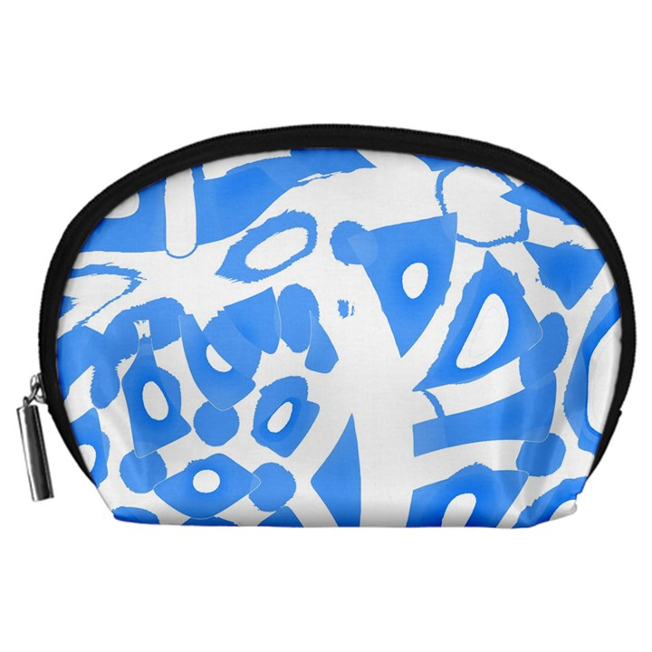 Blue summer design Accessory Pouches (Large)