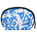 Blue summer design Accessory Pouches (Large)  Back
