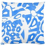 Blue summer design Large Flano Cushion Case (Two Sides) Front