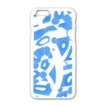 Blue summer design Apple iPhone 6/6S White Enamel Case Front