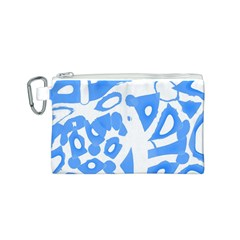 Blue summer design Canvas Cosmetic Bag (S)
