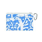 Blue summer design Canvas Cosmetic Bag (S) Back