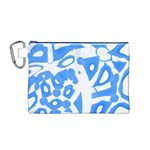 Blue summer design Canvas Cosmetic Bag (M) Front