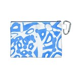Blue summer design Canvas Cosmetic Bag (M) Back