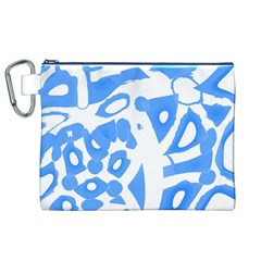 Blue summer design Canvas Cosmetic Bag (XL)
