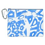 Blue summer design Canvas Cosmetic Bag (XXL) Front