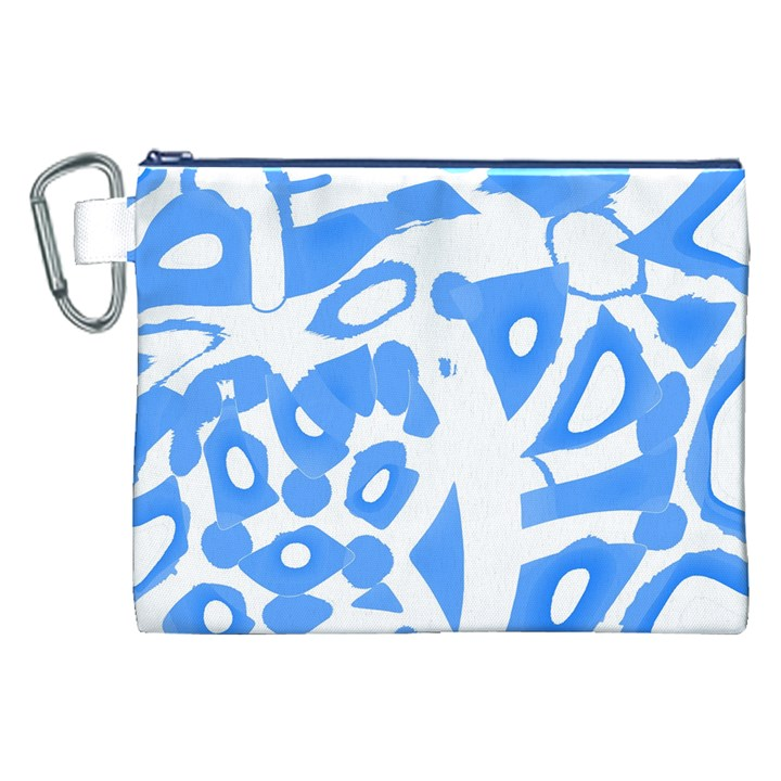 Blue summer design Canvas Cosmetic Bag (XXL)