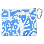 Blue summer design Canvas Cosmetic Bag (XXL) Back