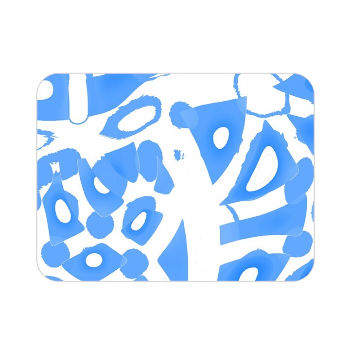 Blue summer design Double Sided Flano Blanket (Mini)