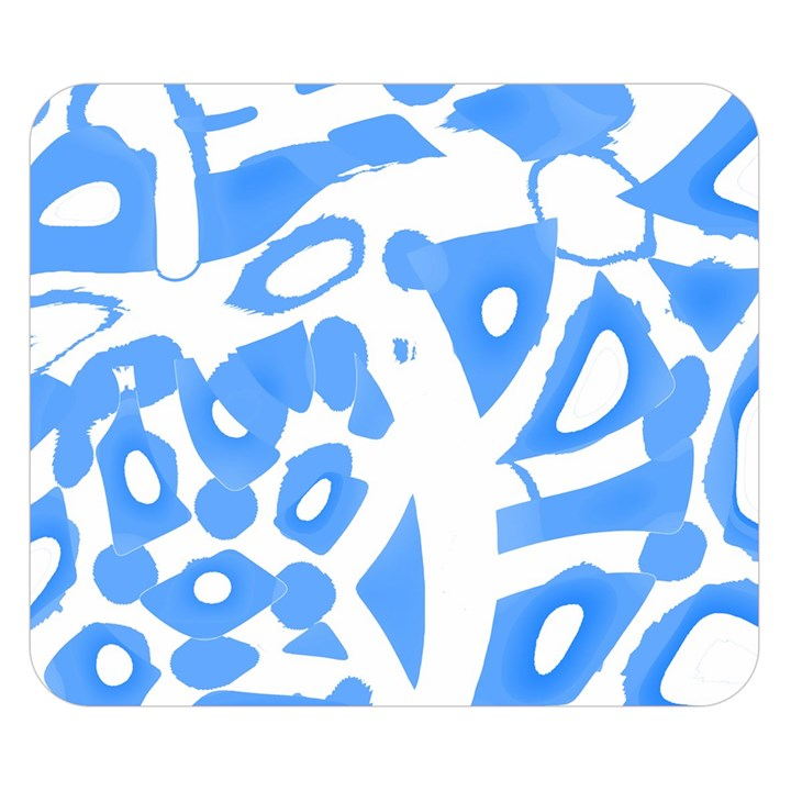 Blue summer design Double Sided Flano Blanket (Small)