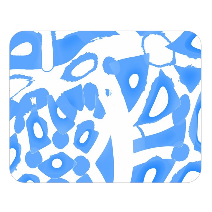 Blue summer design Double Sided Flano Blanket (Large)
