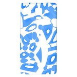 Blue summer design Galaxy Note 4 Back Case Front
