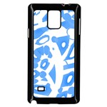 Blue summer design Samsung Galaxy Note 4 Case (Black) Front