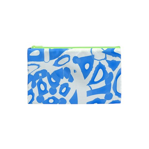 Blue summer design Cosmetic Bag (XS)