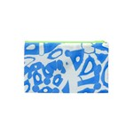 Blue summer design Cosmetic Bag (XS) Back