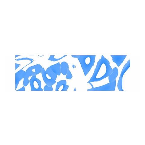 Blue summer design Satin Scarf (Oblong)