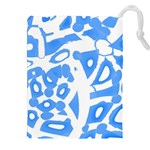 Blue summer design Drawstring Pouches (XXL) Front