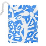 Blue summer design Drawstring Pouches (XXL) Back