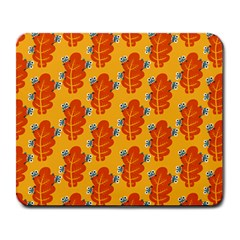 Bugs Eat Autumn Leaf Pattern Large Mousepads