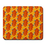 Bugs Eat Autumn Leaf Pattern Large Mousepads Front