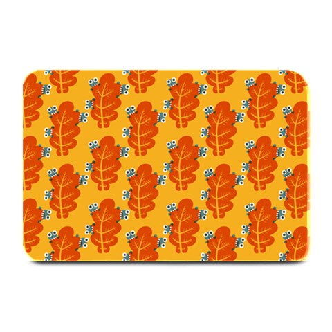 Bugs Eat Autumn Leaf Pattern Plate Mats