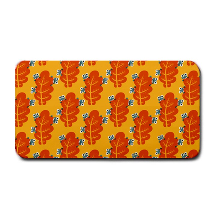 Bugs Eat Autumn Leaf Pattern Medium Bar Mats