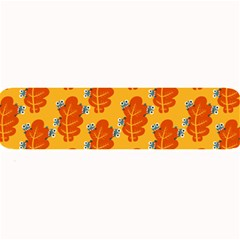 Bugs Eat Autumn Leaf Pattern Large Bar Mats