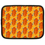 Bugs Eat Autumn Leaf Pattern Netbook Case (Large) Front