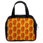 Bugs Eat Autumn Leaf Pattern Classic Handbags (2 Sides) Front