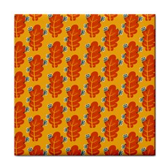 Bugs Eat Autumn Leaf Pattern Face Towel