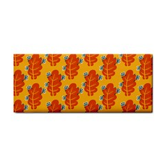 Bugs Eat Autumn Leaf Pattern Hand Towel