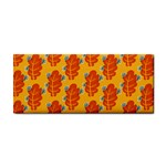 Bugs Eat Autumn Leaf Pattern Hand Towel Front