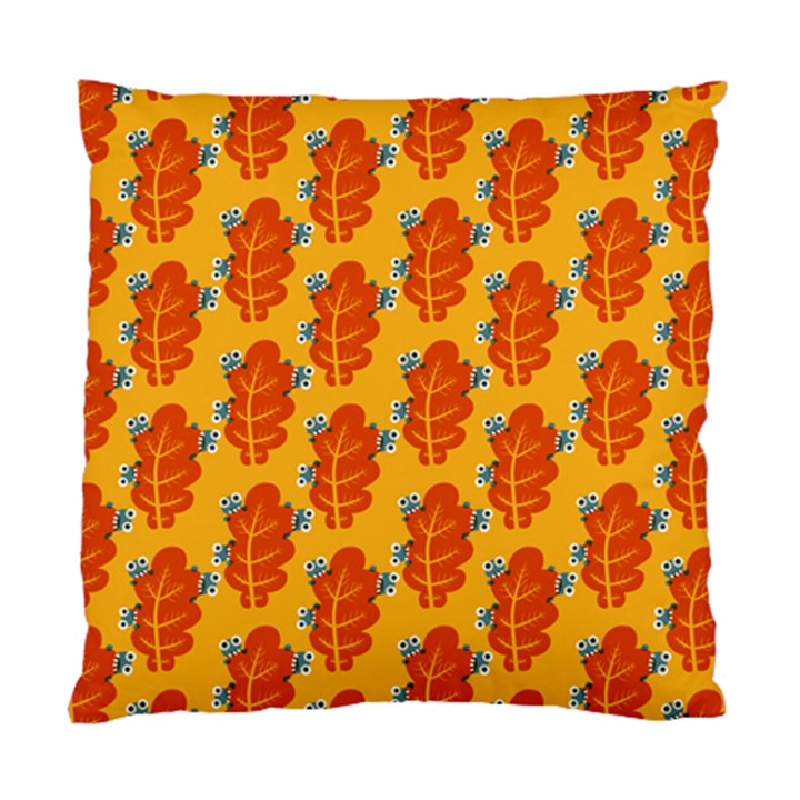 Bugs Eat Autumn Leaf Pattern Standard Cushion Case (Two Sides)