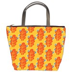 Bugs Eat Autumn Leaf Pattern Bucket Bags Front