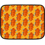 Bugs Eat Autumn Leaf Pattern Double Sided Fleece Blanket (Mini)  35 x27 Blanket Back