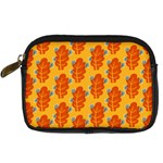 Bugs Eat Autumn Leaf Pattern Digital Camera Cases Front